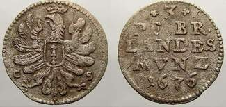 3 Pfennig 1676  CS Brandenburg-Preußen Fri...