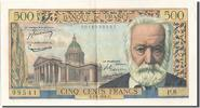 Banque De France  500 Francs French Banknoten Frankreich 500 Francs type Victor Hugo