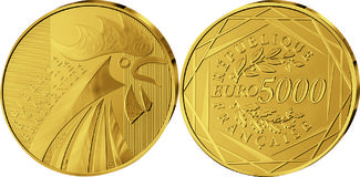 5000 Euro 2014 Frankreich, Der Hahn, PP, E...
