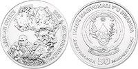 "50 Francs 2008 Ruanda ""Gorillas & Kontinent Afrika"" unc.  230.67 £ 270,00 EUR  +  8.46 £ shipping"