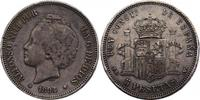 """5 Pesetas 1894 (94) PG-V Spanien """"Alfonso XIII"""" ss/vz  62.85 £ 75,00 EUR  +  8.30 £ shipping"""