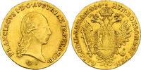 Dukat 1824 G RDR Franz II./I. (1792 - 1835) Av. kl. Kratzer, vz, R  687.40 £ 880,00 EUR