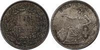 Franken 1861 B Schweiz  s-fss  388.86 £ 490,00 EUR  +  7.86 £ shipping