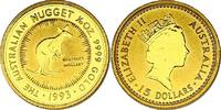 15 Dollar 1993 Australien &quot:  Kangaroo / Känguru&quot: unc.  124.98 £ 160,00 EUR