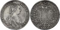 Taler 1757 Prag RDR Maria Theresia (1740 - 1780) kl. gestopftes Loch, vz  341.73 £ 400,00 EUR  +  8.46 £ shipping