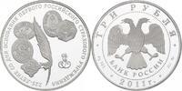 """3 Rubel 2011 Russland """"225 Jahre Versicherung"""" pp.  103.17 £ 130,00 EUR  +  7.86 £ shipping"""