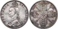 Florin 1887 Großbritannien Viktoria (1837 - 1901) vz+  87.30 £ 110,00 EUR  +  7.86 £ shipping