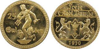 25 Gulden 1930 (A) Danzig Weimar Danzig fa...