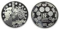 Frankreich 6,55957 Francs = 1 Euro Europäische Währungsunion - mit Box und Echtheitszertifikat