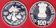Indien 100 Rupien 1981 Proof PP UNICEF Int...