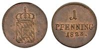 1 Pfennig 1825 Bayern, Königreich Maximilian I. Joseph (1806-1825): 1 P... 155.10 £ 200,00 EUR