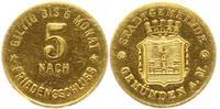 Goldabschlag von den Stempeln des 5-Pfennig-Stücks ohne Jahr Gemünden a... 1687.28 £ 2000,00 EUR free shipping