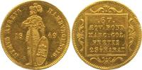 Dukat 1849 Hamburg, Freie und Hansestadt  wz. Randfehler und Kratzer, v... 571.16 £ 700,00 EUR  +  10.20 £ shipping
