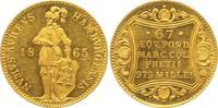 Dukat 1865 Hamburg, Freie und Hansestadt  wz. Kratzer, Stempelglanz-  581.63 £ 750,00 EUR