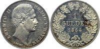 1 Gulden 1864 Bayern, Königreich Ludwig II. (1864-1886) min. berieben, ... 232.00 £ 275,00 EUR  +  6.33 £ shipping