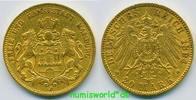 20 Mark 1894  Hamburg - 20 Mark - 1894 ss  /  ss+  313.24 £ 367,00 EUR  +  14.51 £ shipping