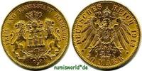 20 Mark 1913  Hamburg - 20 Mark - 1913 f. Stg  313.24 £ 367,00 EUR  +  14.51 £ shipping