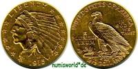 2 1/2 Dollars 1915 USA USA - 2 1/2 Dollars - 1915 vz  266.30 £ 312,00 EUR  +  14.51 £ shipping