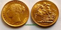 1 Sovereign 1881 Australien Australien - 1 Sovereign - 1881 vz+  480.59 £ 589,00 EUR  +  13.87 £ shipping