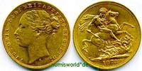 1 Sovereign 1872 Australien Australien - 1 Sovereign - 1872 vz  391.65 £ 480,00 EUR  +  13.87 £ shipping