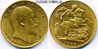 1 Sovereign 1908 Australien Australien - 1 Sovereign - 1908 vz  324.34 £ 380,00 EUR  +  14.51 £ shipping