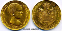 20 Pesetas 1887 Spanien Spanien - 20 Pesetas - 1887 f. Stg  307.27 £ 360,00 EUR  +  14.51 £ shipping