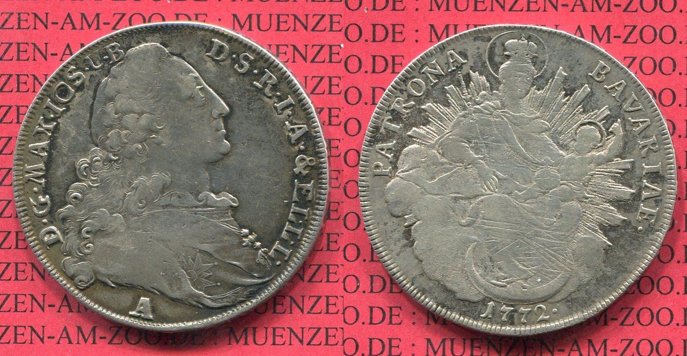 Madonnentaler 1772 A Bayern Bayern Madonnentaler 1772 Amberg ss+ leicht justiert VF+, leicht justiert