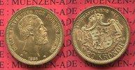 20 Kronor Goldmünze 1886 EB Schweden, Sweden Gold Oscar II.   very nice... 338.52 £ 440,00 EUR