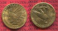 10 Dollars Eagle Indian Head 1910 D USA US...