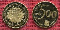 500 Lirot goldcoin Commemorative 1975 Isra...