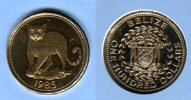 100 Dollars Goldmünze 1985 Belize Ozelot R...