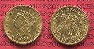 5 Dollars Half eagle 1906 USA Liberty, Frauenkopf, Coronet Head  Gold s... 312.50 £ 375,00 EUR  +  7.08 £ shipping
