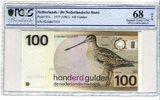 100 Gulden 1977 Niederlande Vogel in der N...