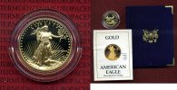 USA 10 Dollars Goldmünze Golden Eagle 1/4 1988 Polierte Platte mit Box u... 351.57 £