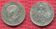 2 Mark Silbermünze 1891 Sachsen Sachsen 2 Mark 1891,Kursmünze, König Al... 96.17 £ 125,00 EUR