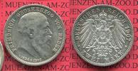 2 Mark Silber  1907 Baden  Baden 2 Mark 1907, Auf den Tod von Großerzog... 54.21 £ 65,00 EUR  +  7.09 £ shipping