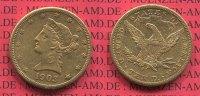 10 Dollars Goldnmünze Eagle 1903 USA USA 10 Dollars Liberty, Frauenkopf... 474.91 £ 617,28 EUR