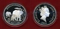100 Dollars Silber 5 Unzen 1991 Cook-Inseln, Cook Islands Elephant Cook... 124.87 £ 149,00 EUR  +  7.12 £ shipping