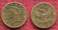 USA 10 Dollars Goldmünze Eagle Coronet Head 1889 ss  USA 10 Dollars Libe... 639.99 £