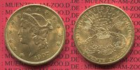 USA 20 Dollars Gold Double Eagle Coronet Head 1907 f. vz USA 20 Dollars ... 1109.08 £