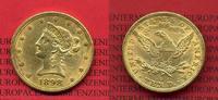 10 Dollars Gold Liberty, Eagle 1898 USA USA 10 Dollars Liberty, Frauenk... 580.86 £ 755,00 EUR
