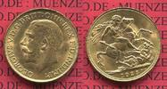 England  Great Britain UK Süd Afrika Sovereign Goldmünze 1925 prfr. Engl... 337.25 £