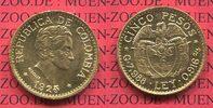 5 Pesos Gold Kursmünze 1925 Kolumbien Columbia Kolumbien 5 Pesos Goldmü... 326.84 £ 390,00 EUR  +  7.12 £ shipping