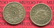 5 Rappen Kursmünze Billon 1873 Schweiz, Switzerland Schweiz 5 Rappen 18... 120.83 £ 145,00 EUR  +  7.08 £ shipping