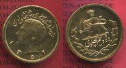 Persien, Iran 2,5 Pahlawi Goldmünze Low Mintage Origin Schah Muhammad Reza Gold Löwe vor Sonne 1352 SH 173