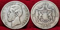 5 Lei Silber 1885 Rumänien Romania Rumänien 5 Lei Silber 1885 Carol. I.... 1192.50 £ 1550,00 EUR