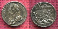 Versilberte Medaille 1658 Britisch  Histor...