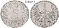 5 DM 1968 D Klein- und Kursmünzen 5 DM 1968, D. Adler. J.387. vz-st  12.96 £ 16,50 EUR  +  7.85 £ shipping