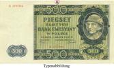 500 Zloty 1940-03-01 Besatzungsausgaben des 2. Weltkrieges 1939-1945 Ge... 17.28 £ 22,00 EUR  +  7.85 £ shipping