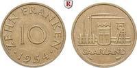 10 Franken 1954 Saarland 10 Franken 1954, Cu. J.801. ss-vz  4.30 £ 5,50 EUR